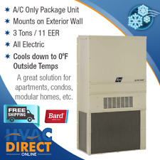 Bard 3 Ton 11 EER Wall Mounted Packaged Air Conditioner, Low Ambient Cooling