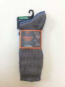 M&S Mens GENTLE GRIP Non elastic Socks 3 PAIRS