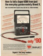 1975 Triplett Model 60 VOM Multimeter Test Equipment Vtg Print Ad