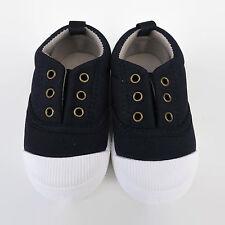 Toddler Quality Canvas shoes boy girl slipOn blue red brown grey pink child kids