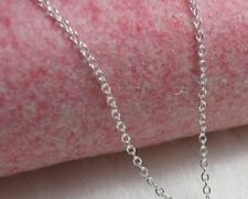 """O"" Cable Chain Necklace - Sterling Silver - 2mm* - 30 inch* -Made In Italy (aA)"