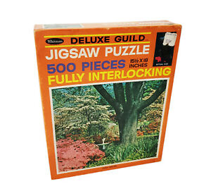 """Vintage Whitman Deluxe Guild """"Lonely Sentinel"""" 500 Pcs Jigsaw Puzzle #4615 USA"""