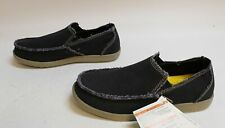 Crocs Men's Santa Cruz Slip On Loafers TM8 Black/Khaki Size US:9 UK:8