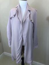Women's ASOS Brand Blush Pink Trench Coat Size 8