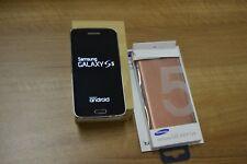 SAMSUNG GALAXY S5 SM-G900f NERO FUNZIONANTE CON SCATOLO COVER E PELLICOLA