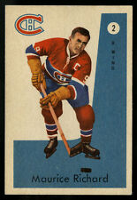 1959-60 PARKHURST HOCKEY~#2~ROCKET RICHARD~CENTERED~MONTREAL CANADIENS