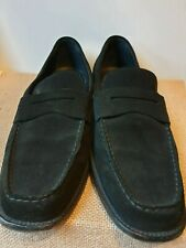 TOD'S Black Classic Loafers in Suede Size EU 42-43 / UK 9 / US 9.5