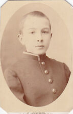 1900s Cdv Handsome young teen boy gymnasium pupil uniform Russian antique photo