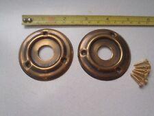 2 x 60 mm ANTIQUE AGED FINISH DOOR KNOB BACK / PLATES / RIM LOCK / BAKELITE