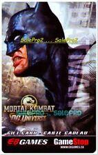 EB GAMES GAMESTOP MORTAL KOMBAT DC UNIVERSE RARE COLLECTIBLE GIFT CARD
