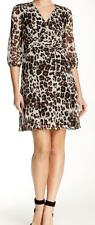 New with Tag-$428.00 Diane Von Furstenberg Silk Snow Chettah A-Line Dress Size 8