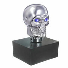 Aluminum Skull Head Car Manual Stick Gear Shift Knob Lever Shifter with blue LED