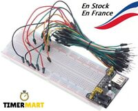 Module d'alimentation 3-5V MB102+ 65PCS câble + Breadboard 830 Points TimerMart