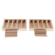 Wooden Number Box Sticks Maths Counting Preschool Kids Educational Toys