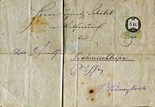 1871 - Austria - 5 Kr. Fiscale usato come francobollo su frontespizio.