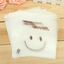 50 Pcs/Set Plastic Transparent Cellophane Candy Cookie Gift Bags Self Adhesive