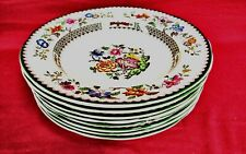 """Spode CHINESE ROSE (IMPERIAL) Soup Bowl 9"""" Set of 8 - MINT"""