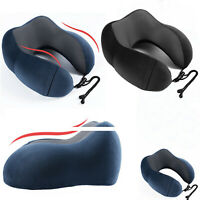 Memory Foam Neck Pillow Support Headrest U Shape Cushion Travel Office Airplane