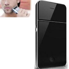 Portable Men's Electric Razor Foil Slim Shaver USB Rechargeable Travel Black