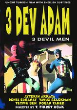THREE DEV ADAM (1973) Evil Spiderman Turkish Mayhem w/English subs DVD NTSC NEW