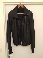 Rick owens intarsia thin leather jacket size S (46)
