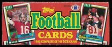 1990 TOPPS FOOTBALL COMPLETE OPENED FACTORY SET 1-528