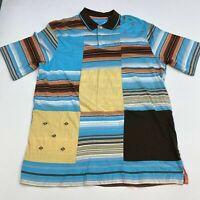 Enyce Polo Shirt Men's 3XL XXXL Short Sleeve Multi Striped Casual 100% Cotton