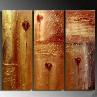 ZOPT165 3pcs abstract flower decor art hand painted art OIL PAINTING ON CANVAS