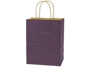 """CUB SIZE Paper Party Gift Bags 8""""x4-3/4""""x10-1/2"""" Choose Color & Quantity"""