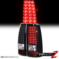 03-06 Chevy Silverado V8 Ss Truck Black LED Tail Lamps Brake Signal Lights LH+RH