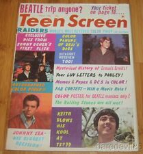 Vintage Aug 1966 Teen Screen magazine Sonny & Cher Beatles Rolling Stones