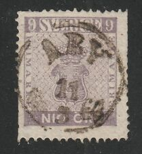 Kappysstamps 042118-70 Sweden Scott 7 Used Trimmed Perf Retail $275