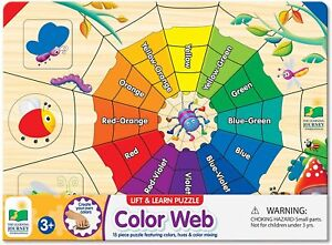 NEW Lift & Learn Puzzle – Color Web – Educational Color Teaching Toddler Toys