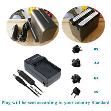 Battery +Charger for Sony NP-F550 NP-F750 NP-F970 YONGNUO YN300 YN-160 YN-140