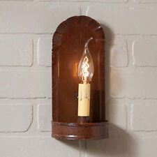 Fireplace Single Arm Wall Sconce in Rustic Tin by Irvin's Country Tinware