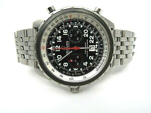 Pre-Owned Breitling Chrono-Matic A22360 Watch Stainless Steel Bracelet and Bezel