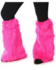 Princess Paradise Child S/M Pink Fur Leg Warmers Deluxe Costume Size 6/8