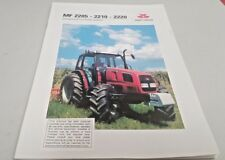 1998 MASSEY FERGUSON 2205 2210 2220 TRACTOR Australian Sales Brochure