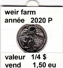 pièces de 1/4 $  weir farm 2020 P