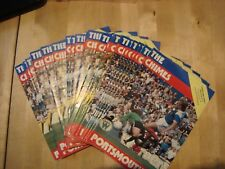 Full set of Portsmouth home programmes 1981-82 - 26 programmes