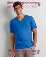 GILDAN cotone Premium adulto scollo a V T-shirt - Uomo Casual Maglia - S M L XL