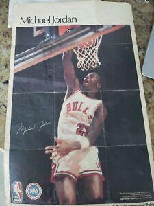 vintage 1987 Michael Jordan Sports Illustrated Poster