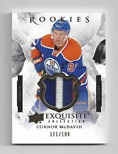 2015-16 Exquisite Collection Connor McDavid Rookies Patch Rookie #/199 Oilers