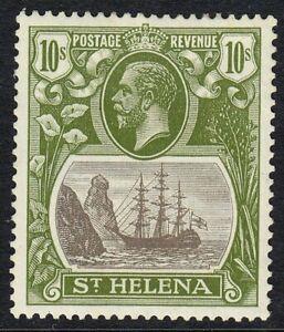 ST HELENA 1922-37 SG112 10/- GREY & OLIVE-GREEN MNH