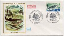 Enveloppe FDC 1er Jour - Protection de la nature Saumon 1972