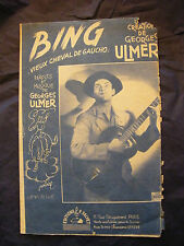 Partition Bing Georges Ulmer Music Sheet 1944