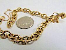 14k Gold Charm Bracelet FREE Dog Charm 7.5 in. 5mm Save 1000. #1109