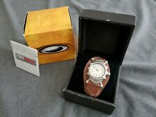 Oakley Saddleback Watch Brown Strap w/ Ivory Face Very Rare