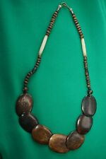 necklacefrom Kwa-Zulu Natal, South Africa Handmade African Large brown bead