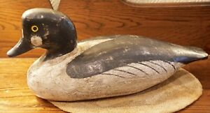 Bob Booth Artisan Hand Carved Golden Eye Duck Decoy 1987 Chincoteague VA